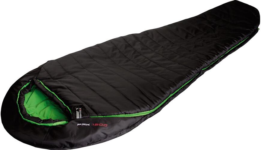 High Peak Pak 1300 Sleeping Bag schwarz/grün